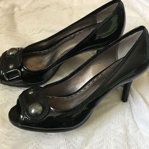 Coach peep-toe pumps